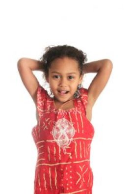afro american beautiful girl children with black curly hair isol