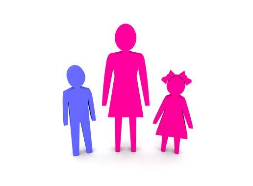 woman children single