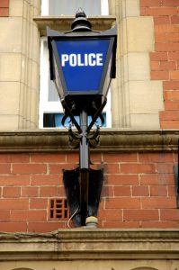 British Police Station Sign