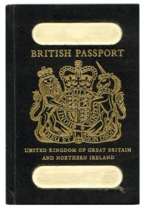 Old British Passport