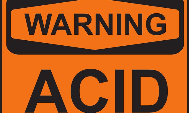warning acid