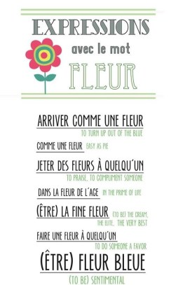 expressions with the word ''flower''