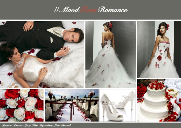 "Mood board – Bryllup: ""Rose Romance"""