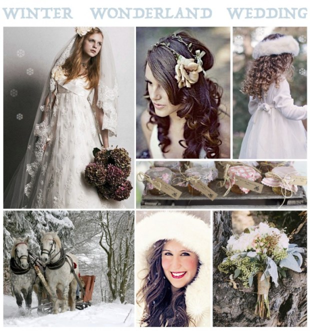 "Mood board – Bryllup: ""Winter Wonderland Wedding"""