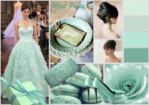 "Mood board – Mode: ""Mint Party"""