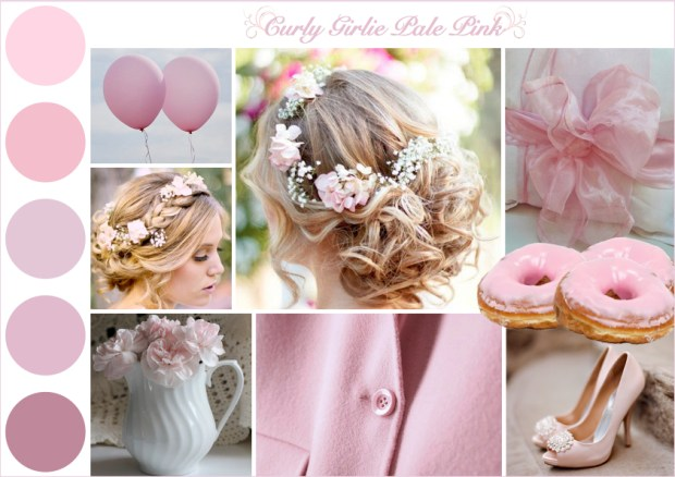 "Mood board – Mode: ""Curly Girlie Pale Pink"""