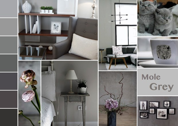 "Mood board – Bolig: ""Mole Grey"""
