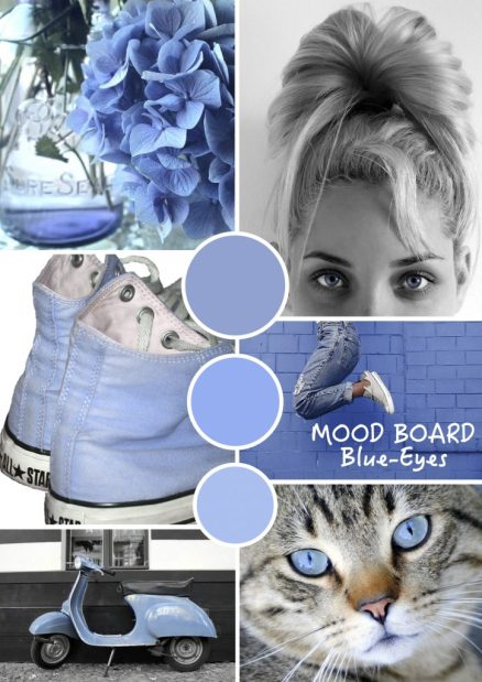 "Mood board – Mode: ""Blue Eyes"""