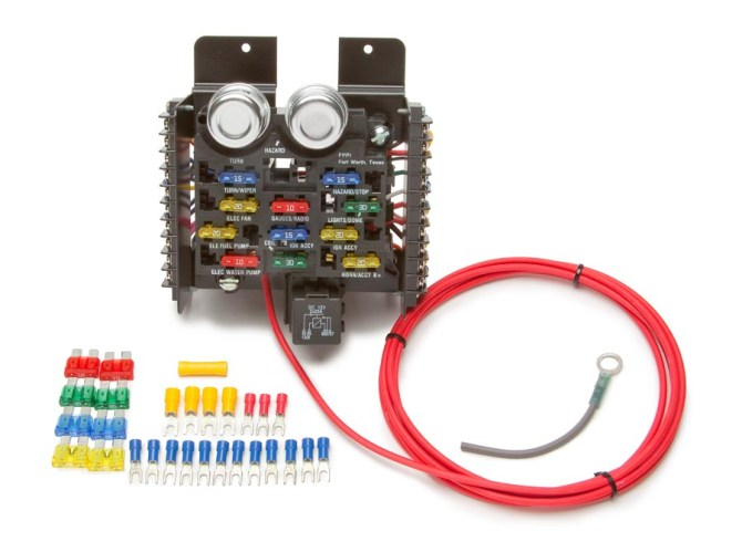 race/pro street prewired 16 circuit fuse block  painless