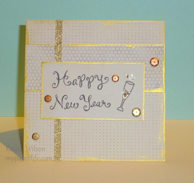 Card 1 - Lawn Fawn New Year
