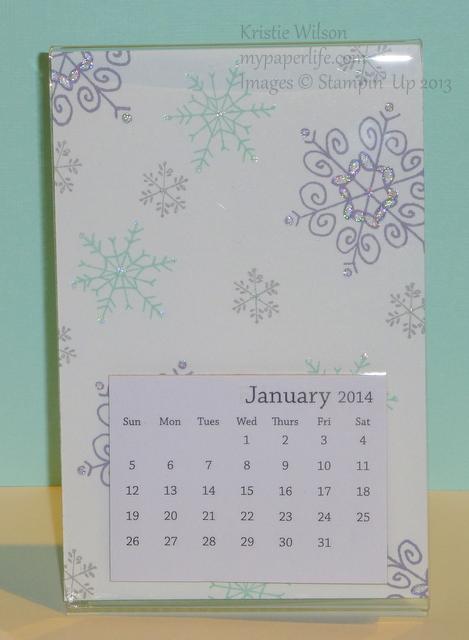 January 2014 Calendar - Close up