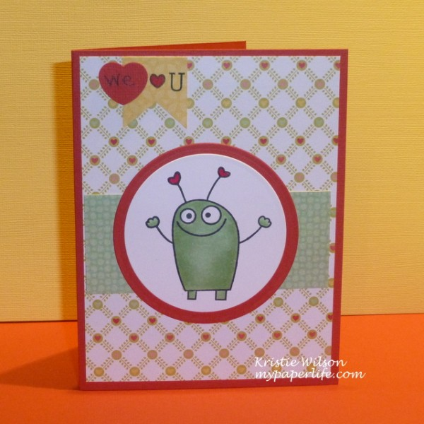 Card 9 - TE Love Monsters for Kaleb