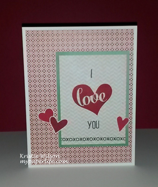 2014 Card 133 - PS Sweet Hearts anniversary card