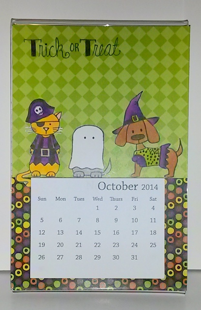 Mom October Calendar TE Critters in Costume