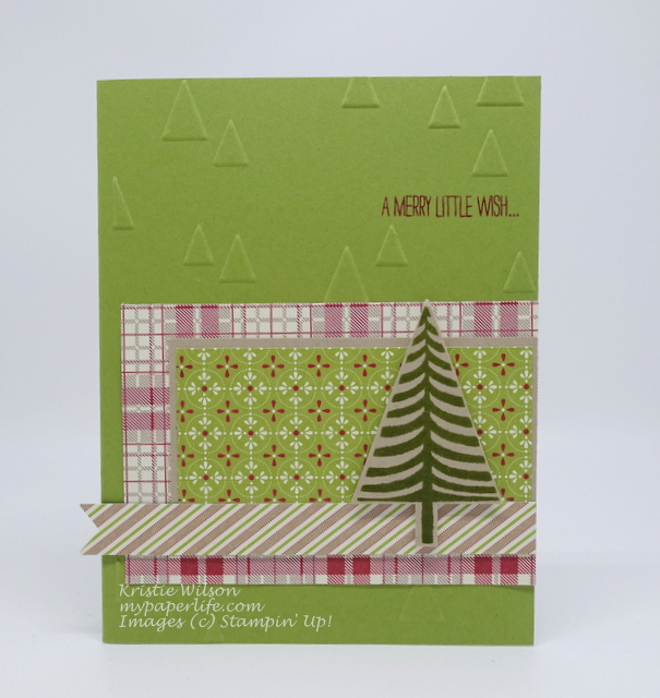 2015 Card 60 - Stampin Up Festival of Trees