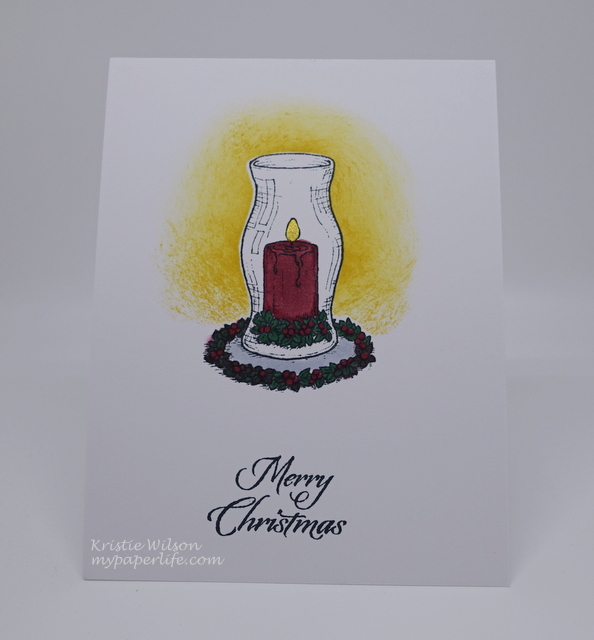 2015 Card 78 - Flourishes Christmas Candles (1)