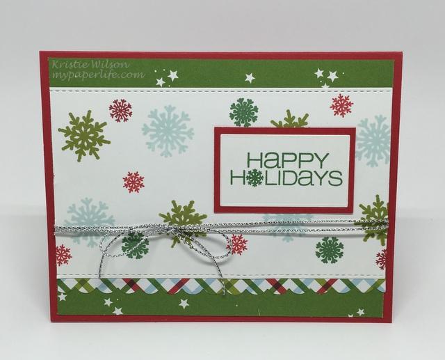 2015 Card 122 -CASual Fridays  Snowflake Greetings