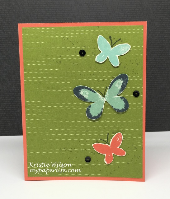 2016 Card 30 - Stampin Up Watercolor Wings