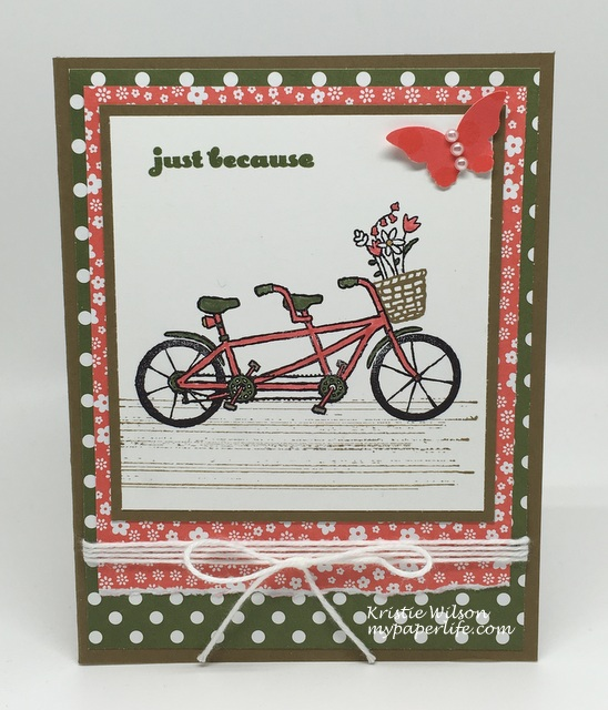 2016 Card 38 - Stampin Up Pedal Pusher