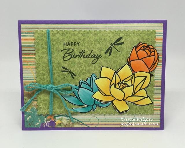 2016 Card 72 - Waffle Flower Lotus