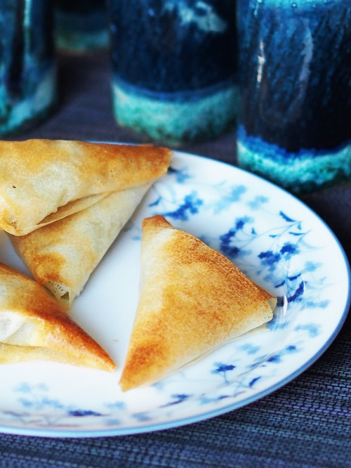 Cucumber and Goat Cheese Samosas