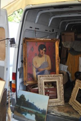 painting marche paris puce woman breast flapper
