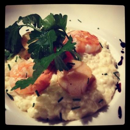 Paris Food, Shrimp and Cheese Risotto at Le Gabin
