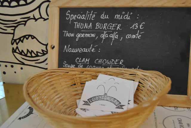 Tuna Burger 13 euros paris lobster bar