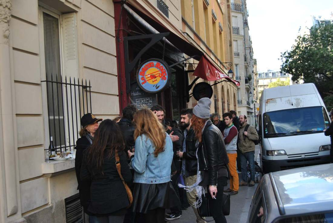 people in paris at le baron