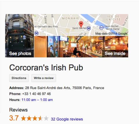 cocorans irish pub paris