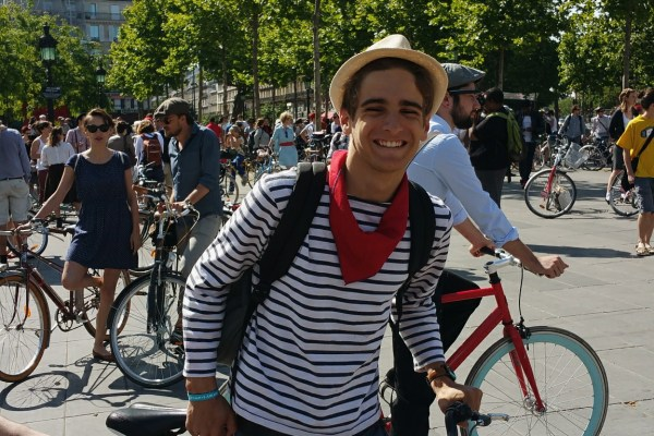 french stripe shirt vintage bicycle ride paris 2015