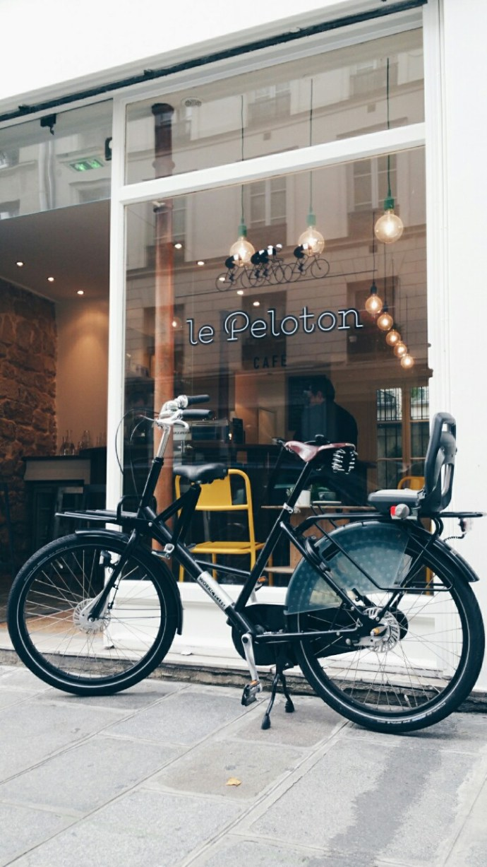 le peloton bike coffee shop paris new
