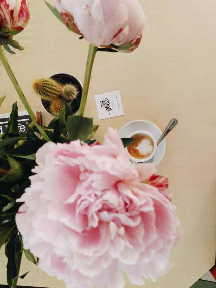 paris flowers good music coffee