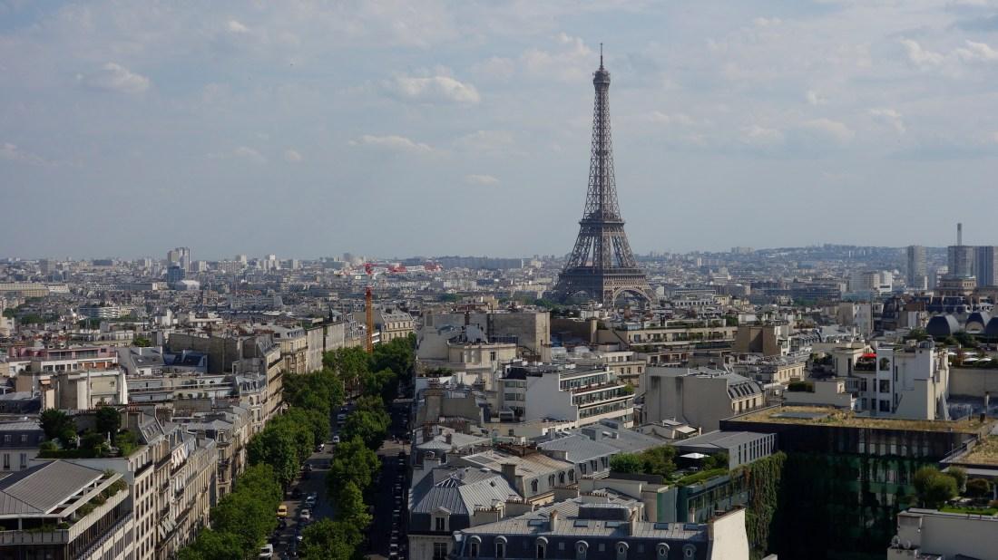 eiffel tower from arc triomphe