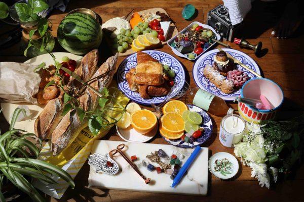 Yanique apartment cheese platter paris