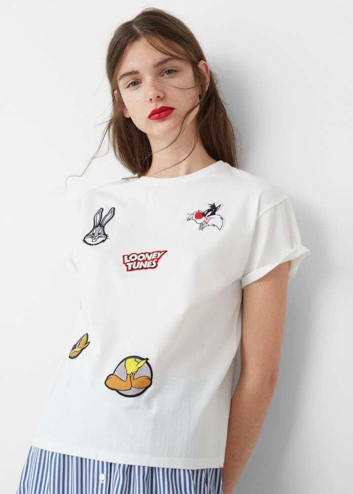 T-shirt empiècements décoratifs