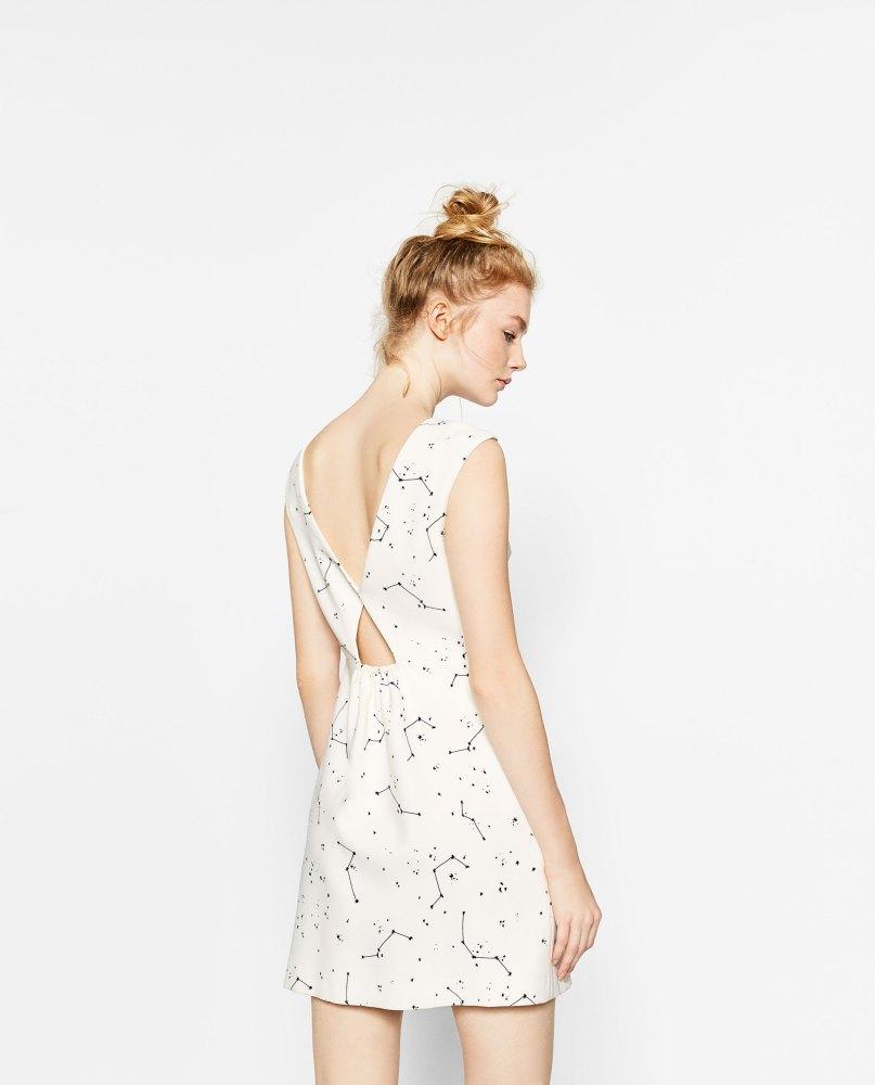 Robe imprimé constellation Zara