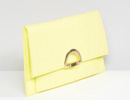 pochette-pliee-jaune-asos