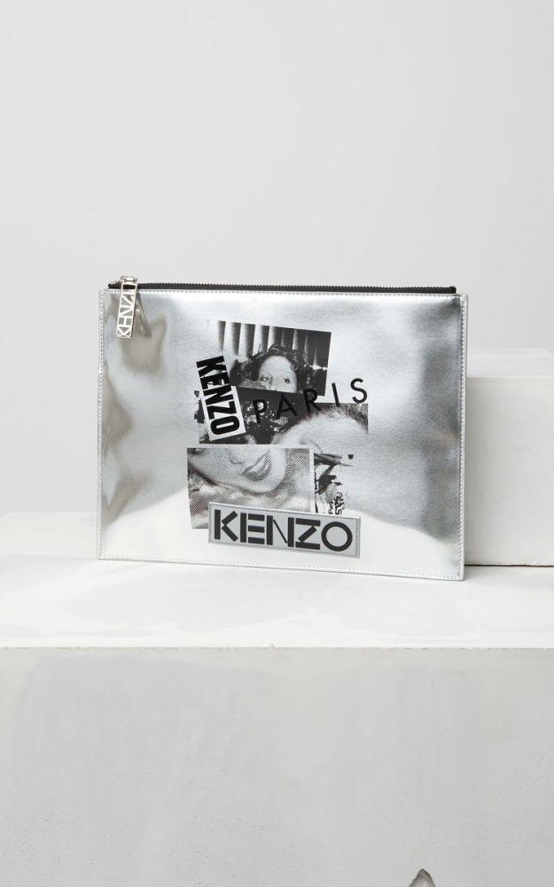 pochette-large-argent-kenzo