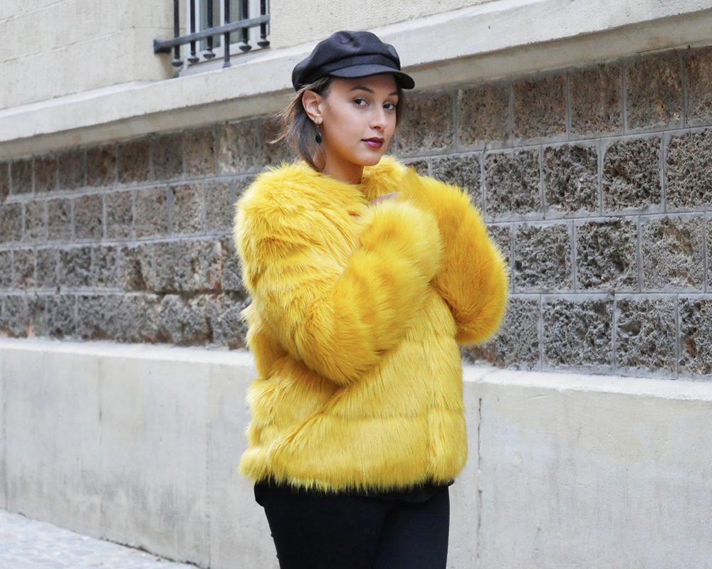 look-titi-faux-fur-jaune-americain