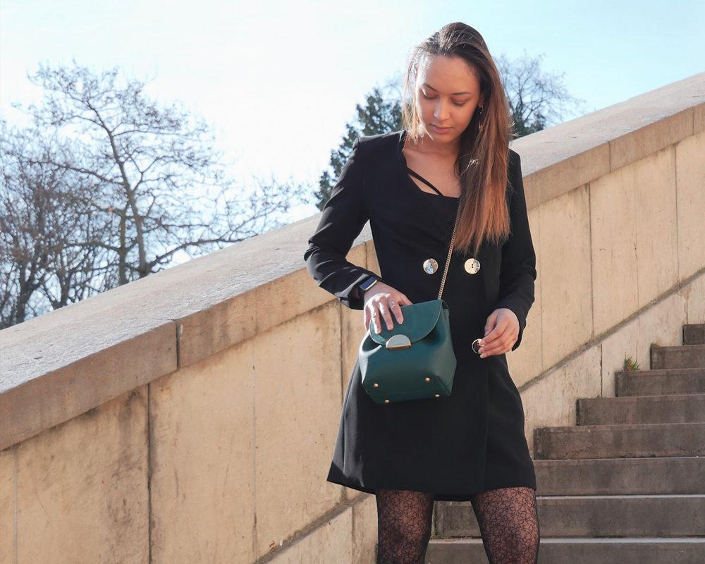 look-blazer-dress-mode-style-paris-ciel-bleu