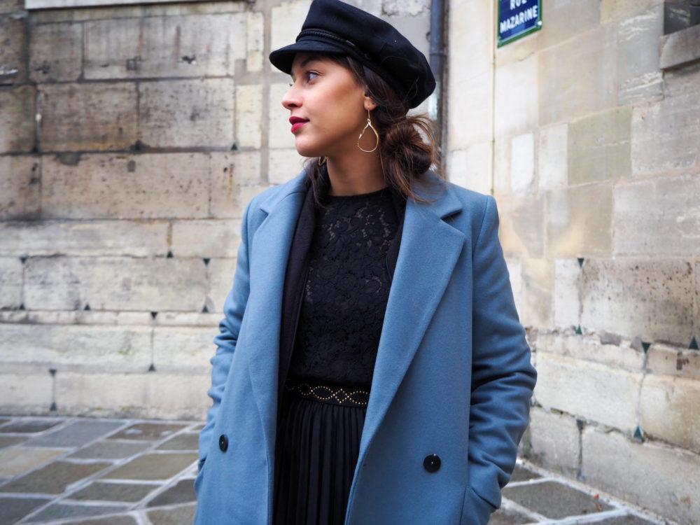 look-manteau-hiver-2020-boucle-oreilles-dorées