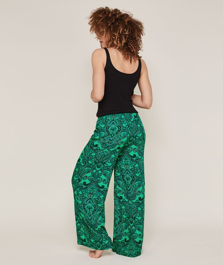 wishlist-pyjamas-confinement-pantalon-palazzo-bandana-vert-undiz