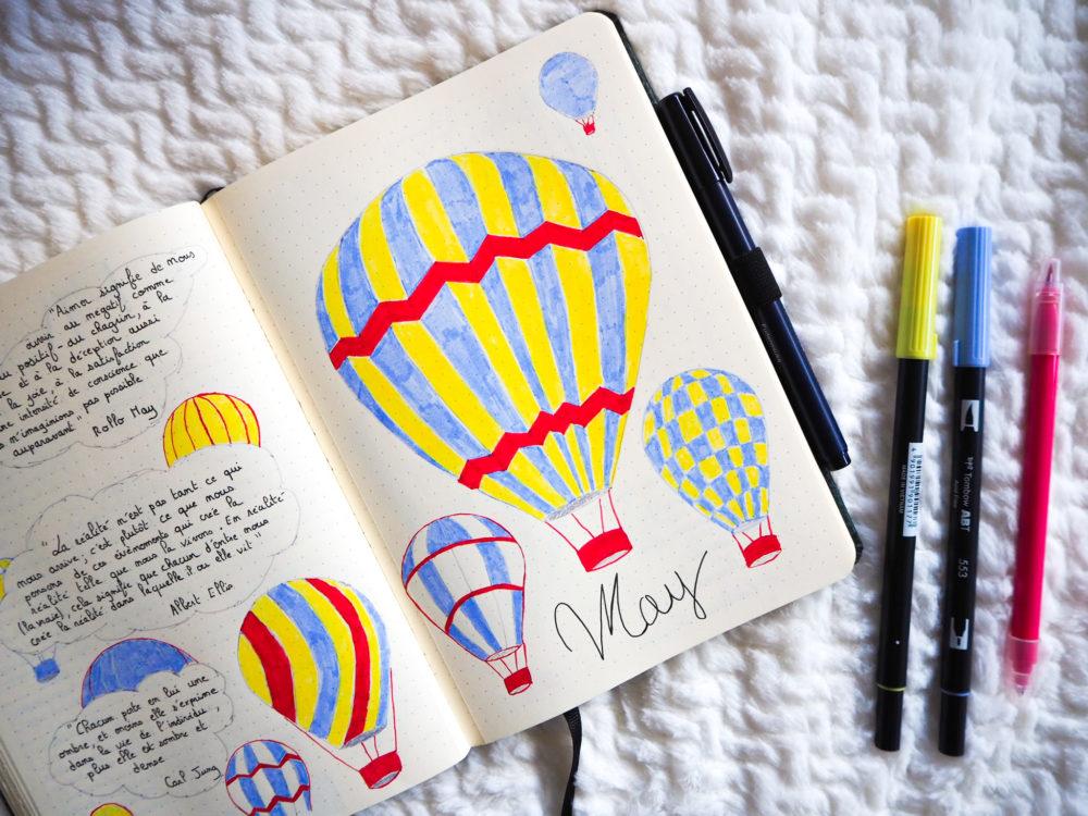bullet-journal-mai-theme-montgolfiere