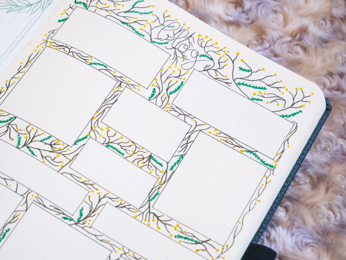 bujo-juin-tracker-dessin-mimosa