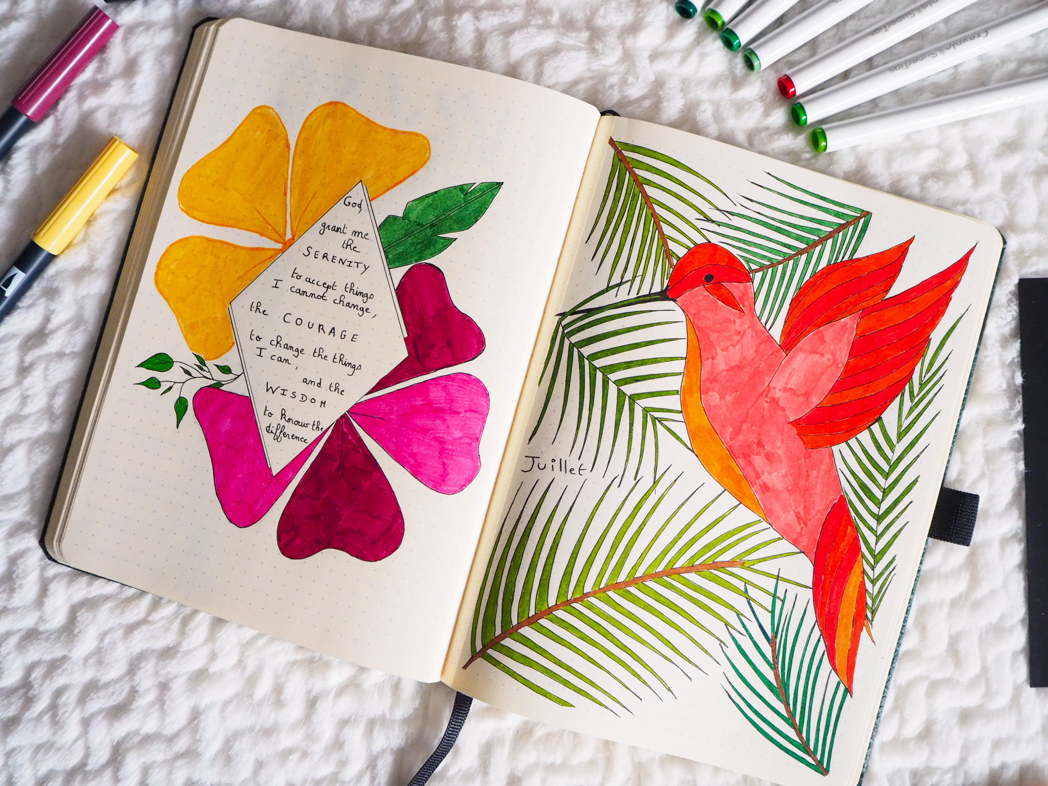 bullet-journal-juillet-tropical-vibes