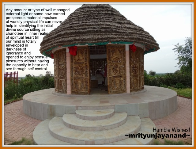 Identifying the initial divine source sitting as charioteer in inner realm of spiritual heart…!