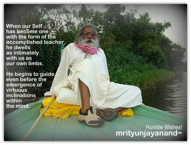 Enlightened master is ever awake and inseparably with this disciple's Self....!!!
