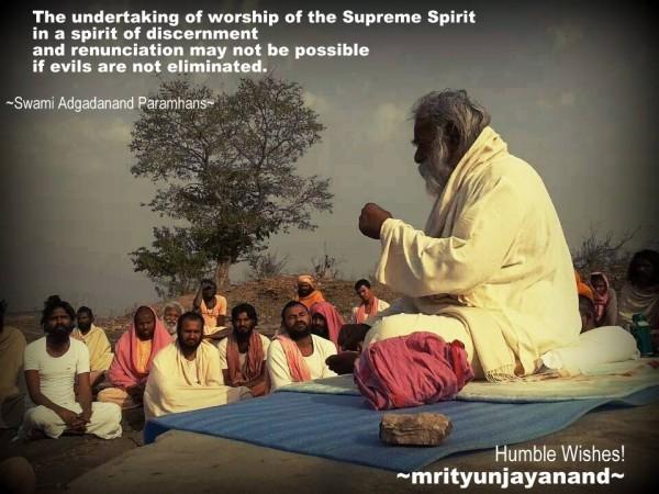 The undertaking of worship of the Supreme Spirit...!!!