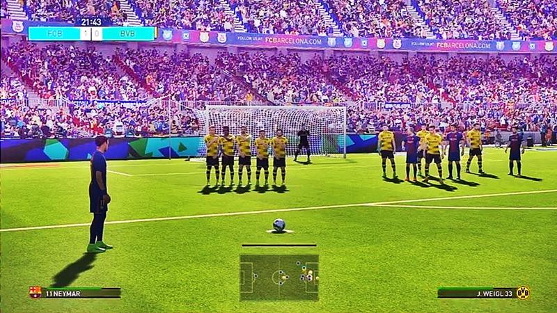 Pro Evolution Soccer 2018 Free Download Goal Image